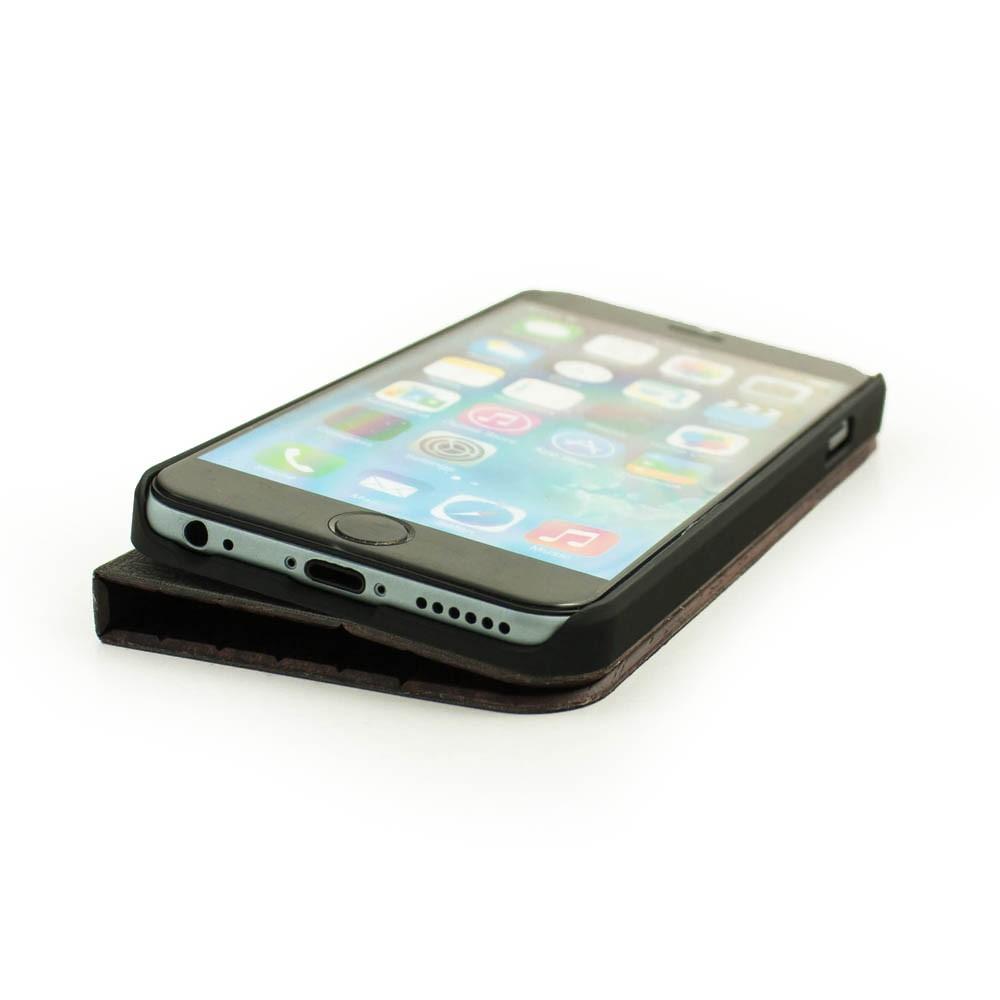 Houten design flip case, iPhone SE u2013 Padouk