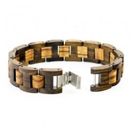 Hoentjen, houten armband - Padouk & Zebrano, 18mm