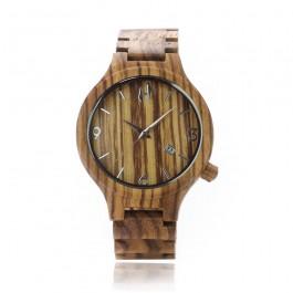 Hoentjen Creatie, houten horloge – Madagascar, zebranohout