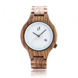 Hoentjen Creatie, houten horloge – Mauritius, zebrano