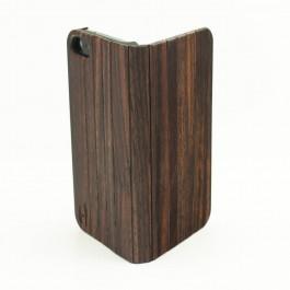 Houten design flip case, iPhone SE – Padouk