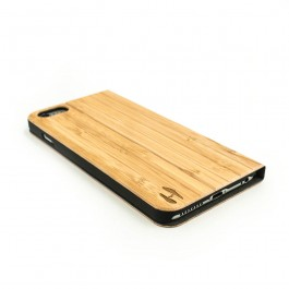 Houten design flip case, iPhone 6+ (PLUS) – Bamboe