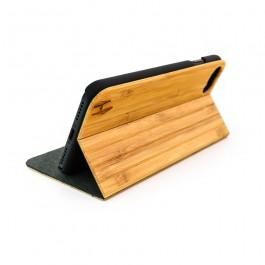 Hoentjen Creatie, Houten design flip case, iPhone 8 – Bamboe