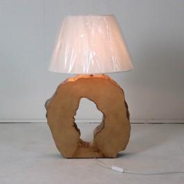 Houten voetlamp, essenhout - Hoentjen Creatie