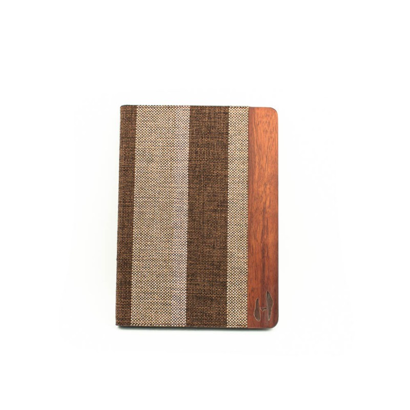 Houten retro-design iPad 9.7 inch (2017/2018) bookcase - Palissander met stof