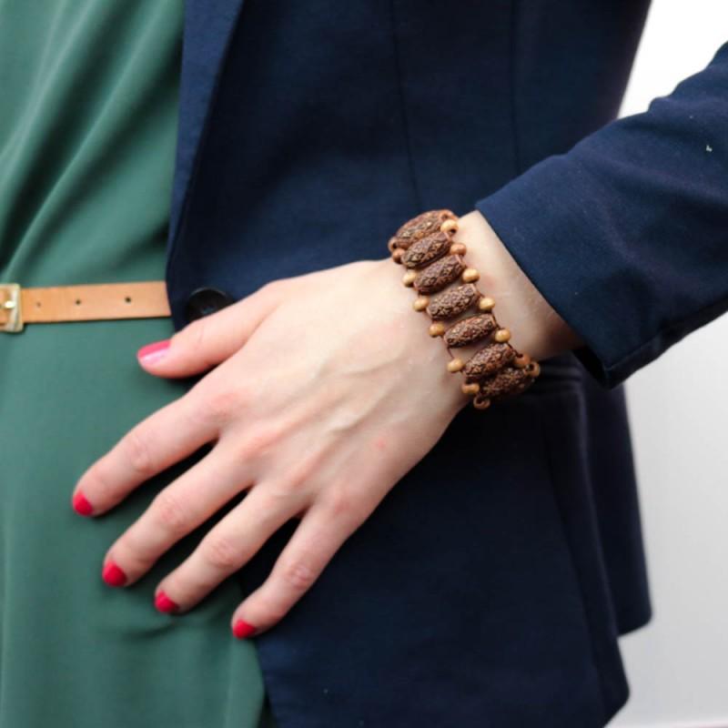Hoentjen creatie - houten armband, koa hout