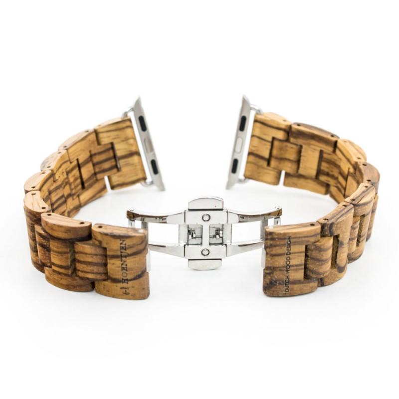 Hoentjen, houten band Apple Watch - Zebrano, 38mm