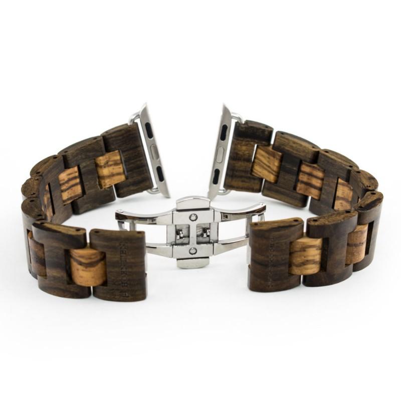 Hoentjen, houten band Apple Watch - Padouk & Zebrano, 38mm