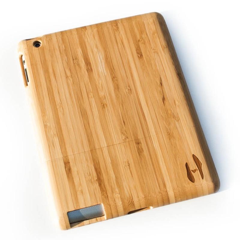 Houten iPad hoes - bamboe hout -  Hoentjen Creatie