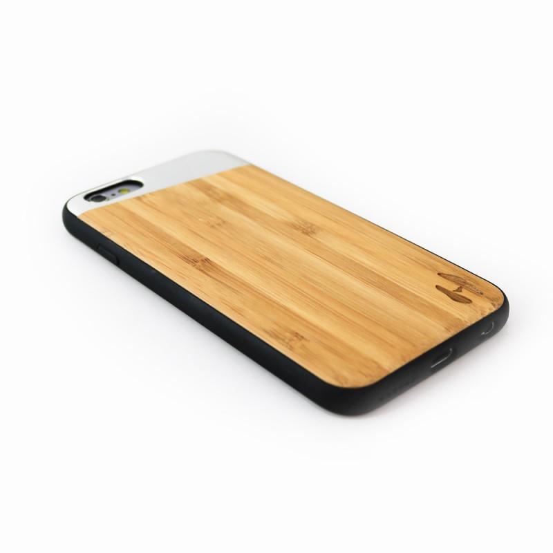 Hoentjen Creatie - TPU case, iPhone 6 / 6s - Bamboo & silver metal