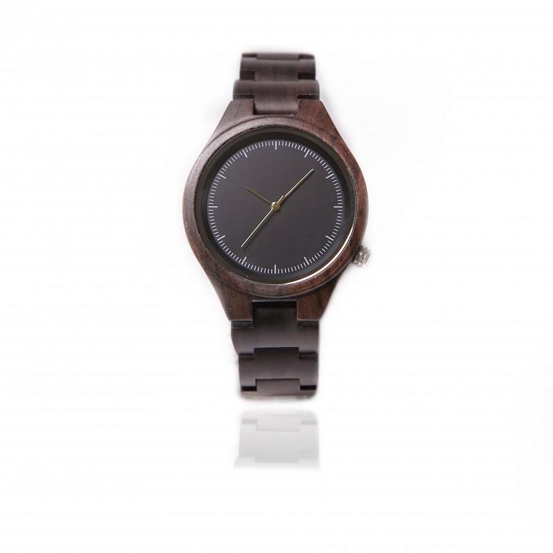 Hoentjen, houten horloge - Fernando Donker Padouk