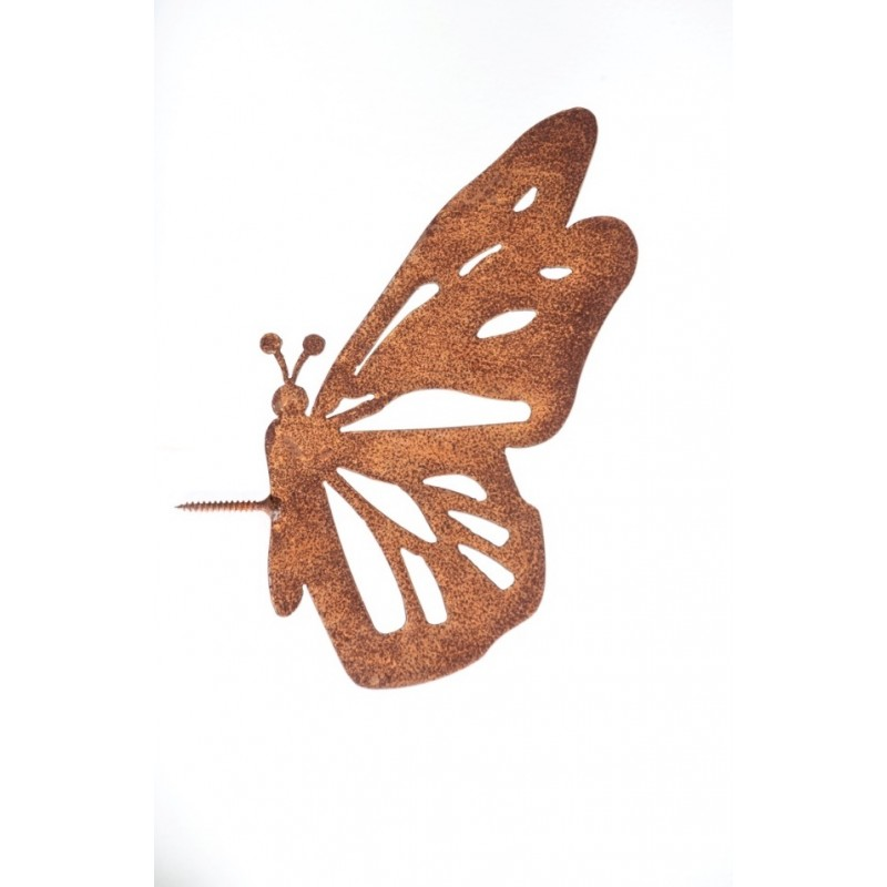 Tuin Decoratie Vlinder Cortenstaal