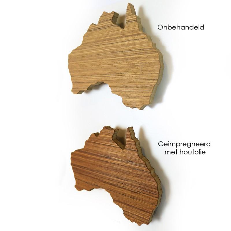 Hoentjen - Houten wereldkaart, Teak