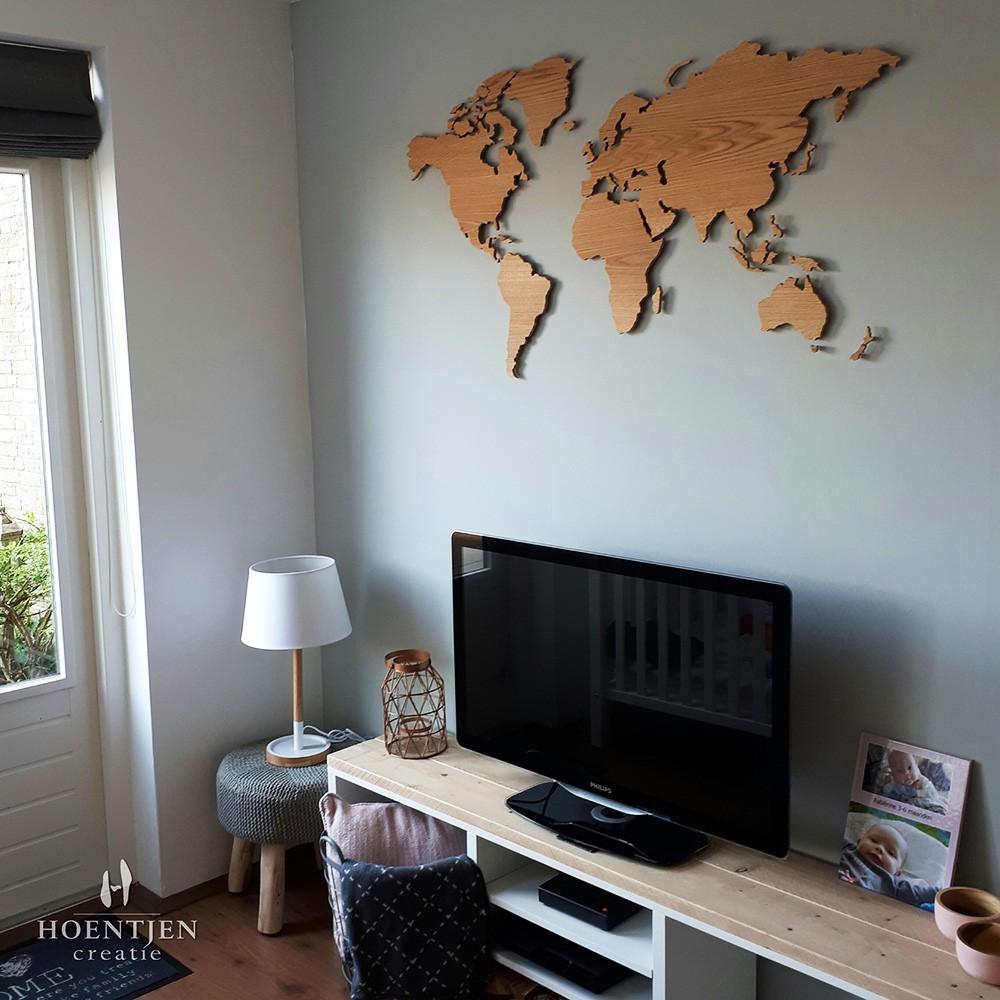 Uitgelezene Houten wereldkaart, Europees eiken FS-38