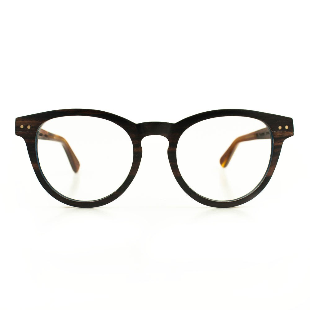 houten montuur bril