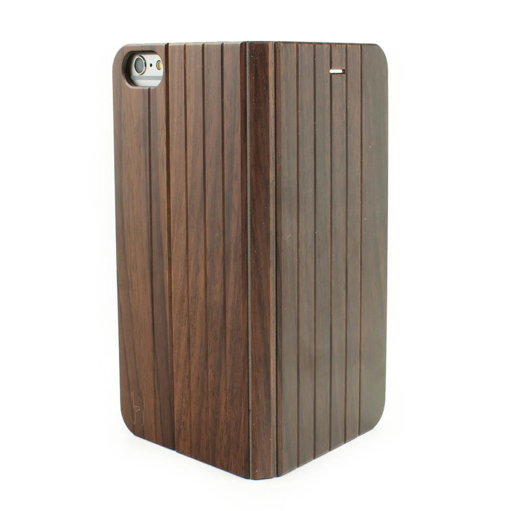 Houten Iphone 6 Plus 6s Plus Flip Case Gemaakt Van Padouk Hout