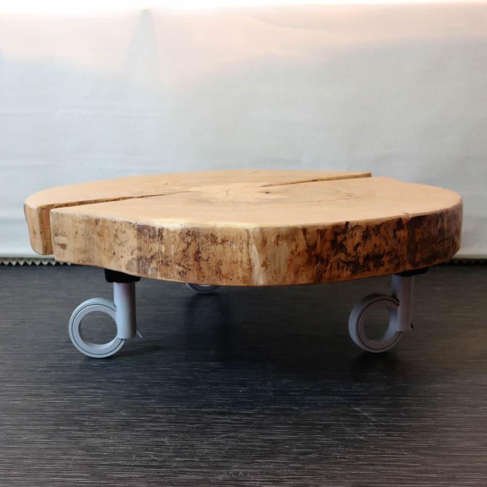 Voorkeur Boomstam salontafel schijf op open wieltjes #OG37