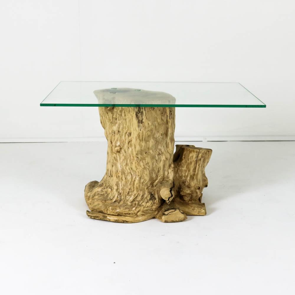 Salontafel In Glas.Hoentjen Creatie Houten Boomstronk Salontafel Koffieboom Met Glas