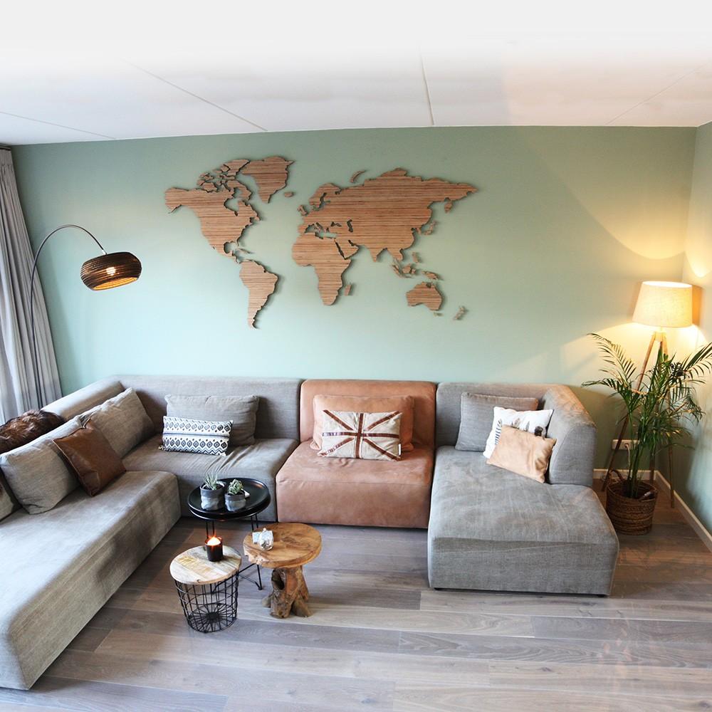 Verwonderend Houten wereldkaart, Berken multiplex XX-76