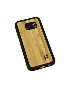 Hoentjen Creatie - Houten TPU case, Samsung Galaxy S7 - Bamboe