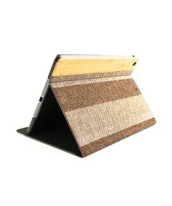 Houten retro-design iPad 9.7 inch (2017/2018) bookcase - Bamboe met stof