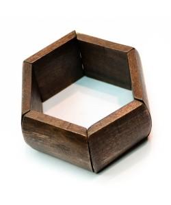 Hoentjen creatie - houten armband, recht