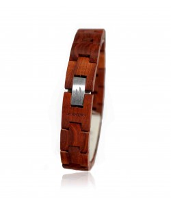 hoentjen, houten armband - palissander, 14mm