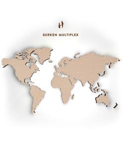 Hoentjen - Houten wereldkaart, Berken multiplex 235cm