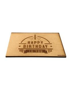 Hoentjen Creatie, Houten ansichtkaarten - Happy birthday