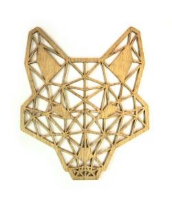 Hoentjen, houten polygoon dier - Vos