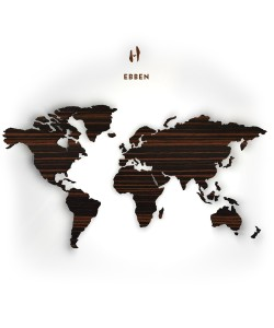 Houten wereldkaart, Ebben