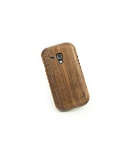 Houten hoesje, Samsung Galaxy S3 Mini - donker notenhout