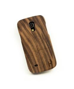 Houten hoesje, Samsung Galaxy S4 MINI - donker notenhout