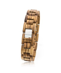 Hoentjen, houten armband - Zebrano, 18mm