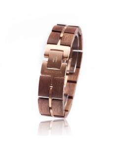 Hoentjen, houten armband - Notenhout en roségoud 18mm