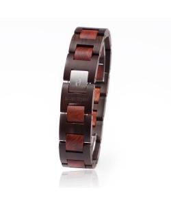 Hoentjen, houten armband - Padouk & Palissander, 18mm