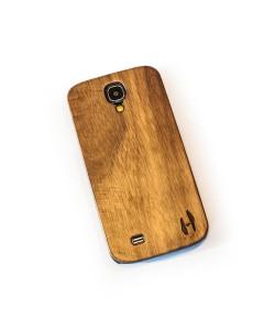 Echt houten hardcase hoesje Samsung Galaxy S4 - donker notenhout