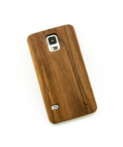 Echt houten hardcase hoesje Samsung Galaxy S5 - donker notenhout
