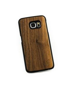 Hoentjen, houten hoesje Samsung Galaxy S6 Edge - notenhout