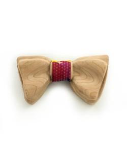 Hoentjen, Luxe houten vlinder strik - Fluo