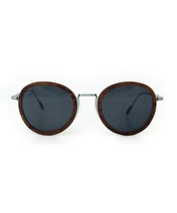 Hoentjen, houten zonnebril jeffreys bay zilver