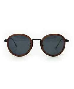 Hoentjen, houten zonnebril jeffreys bay zwart