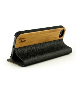 Houten design flip case, iPhone 5 / 5S- Bamboe