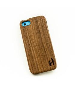 Houten hoesje, iPhone 5C - donker notenhout