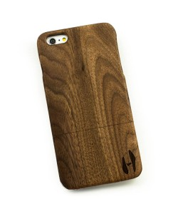 Houten hoesje, iPhone 6+ (PLUS) - donker notenhout