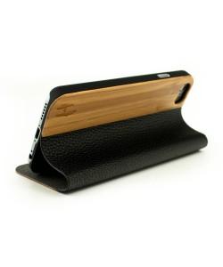 Houten design flip case, iPhone 6 - Bamboe
