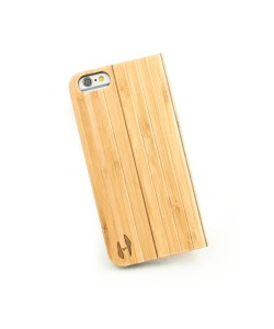 Houten design flip case, iPhone 6 – Bamboe