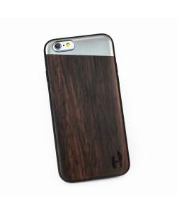 Hoentjen Creatie - Houten TPU case, iPhone 6 / 6s - Padouk & grey metal