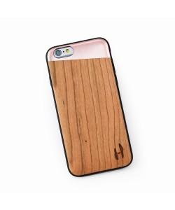 Hoentjen Creatie - Houten TPU case, iPhone 6 / 6s - Kersenhout & rosé metal