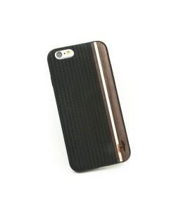 Houten TPU case, iPhone 6/6S - Padouk, esdoorn en zwart leer